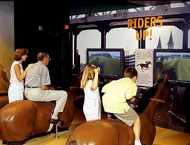View of an Interactive Video Game in the Kentucky Derby Museum